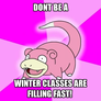 Winter classes